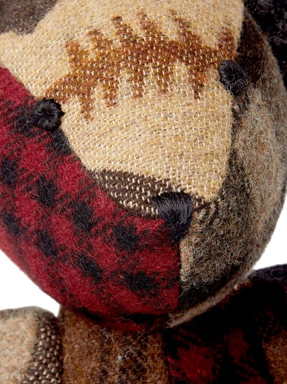 RRL Patchwork Checked Wool Bear