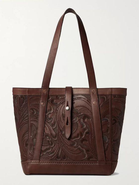 RRL Tooled Leather Tote Bag