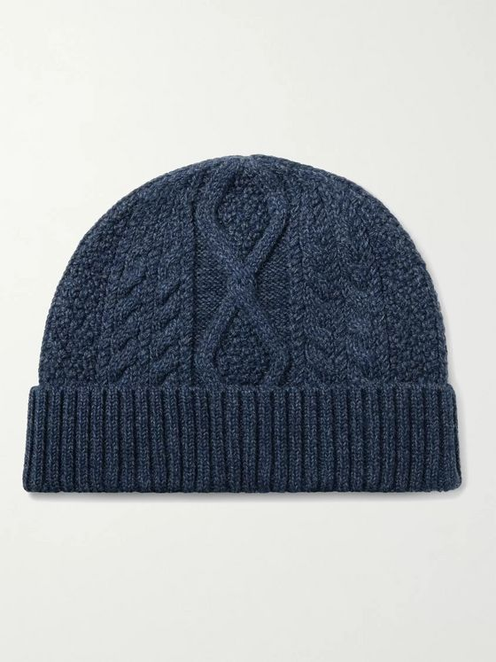 RRL Cable-Knit Wool Beanie