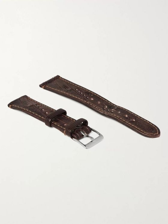 RRL Tooled Leather Watch Strap