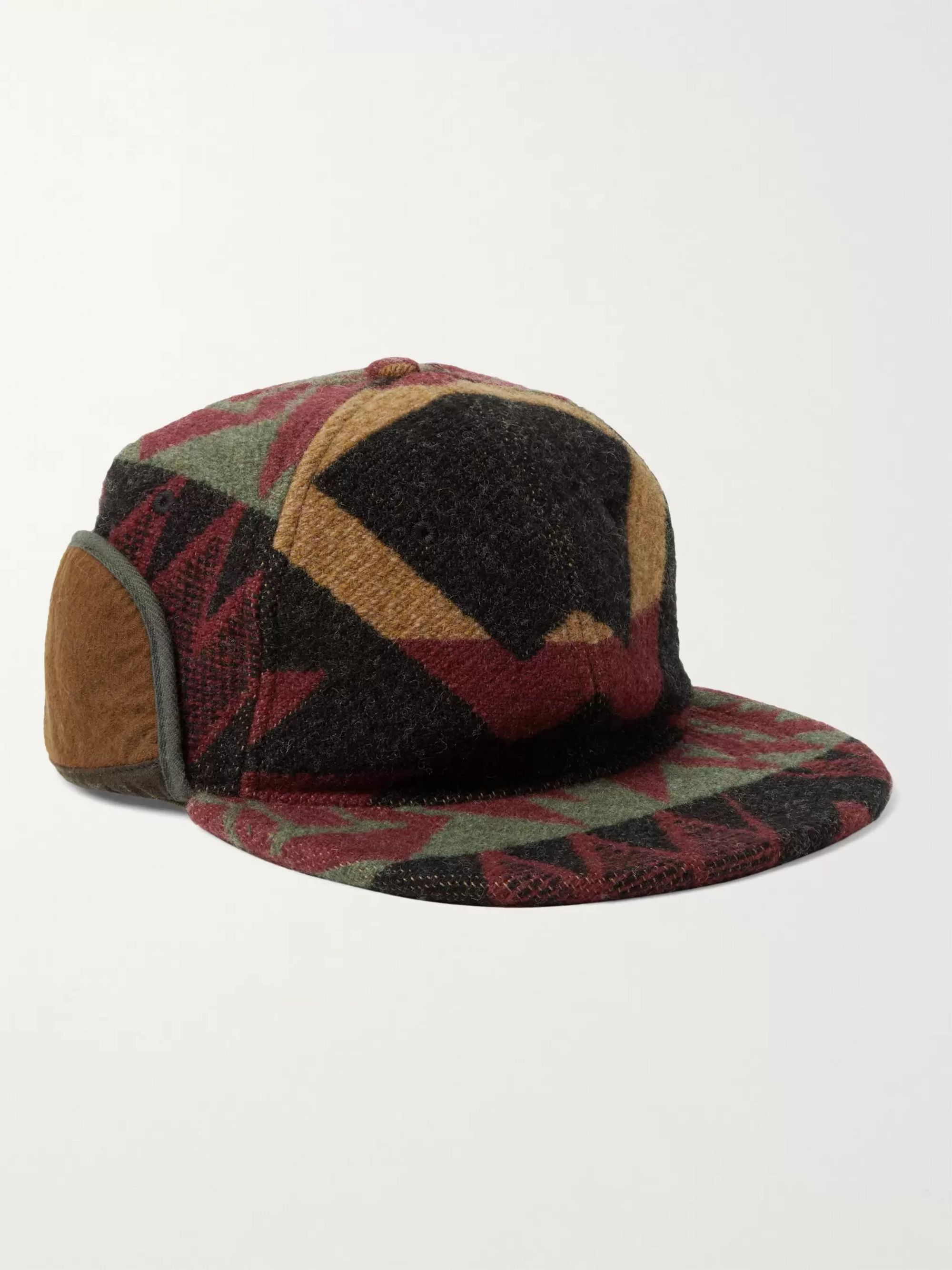 RRL Wool-Blend Jacquard Trapper Hat
