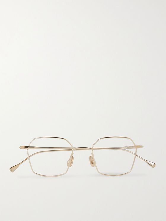 Native Sons Chino Hexagon-Frame Gold-Tone Optical Sunglasses