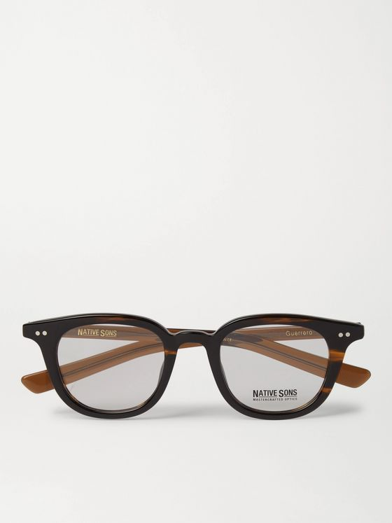 NATIVE SONS Octagon-Frame Tortoiseshell Acetate and Gold-Tone Sunglasses