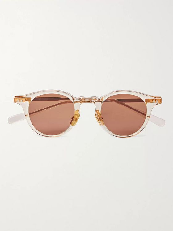 Native Sons Sputnik Round-Frame Acetate and Gold-Tone Sunglasses