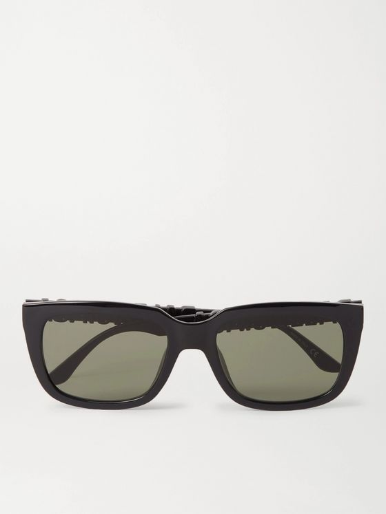 BALENCIAGA Square-Frame Logo-Detailed Acetate Sunglasses