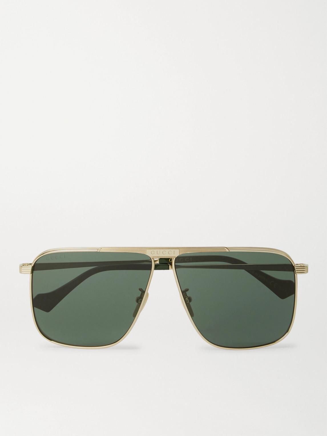 Gucci - D-Frame Gold-Tone Sunglasses - Men - Gold