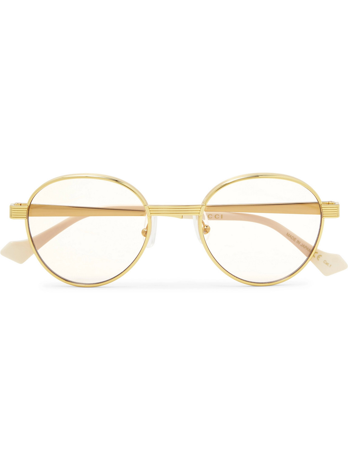 Gucci - Round-Frame Gold-Tone Sunglasses - Men - Gold