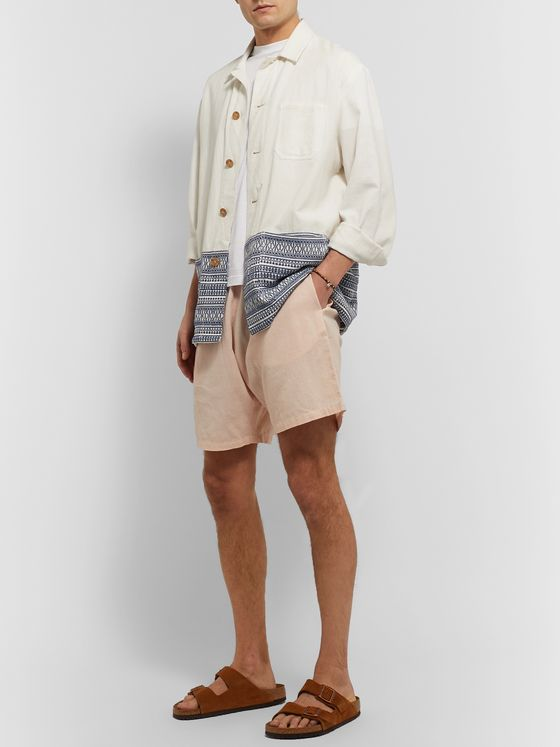 SMR Days Wide-Leg Cotton Drawstring Shorts