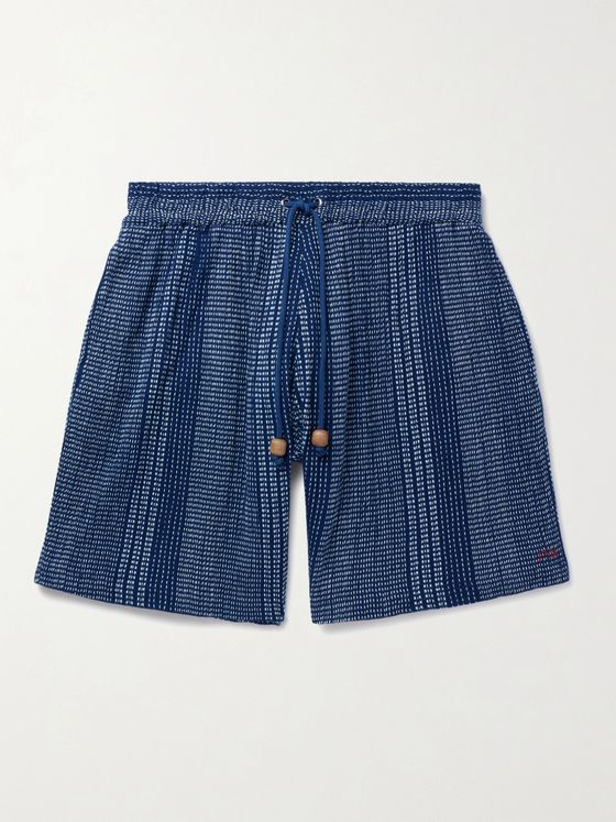 SMR Days Embroidered Cotton Drawstring Shorts