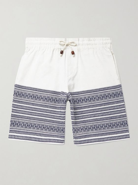 SMR Days Cotton-Jacquard Drawstring Shorts