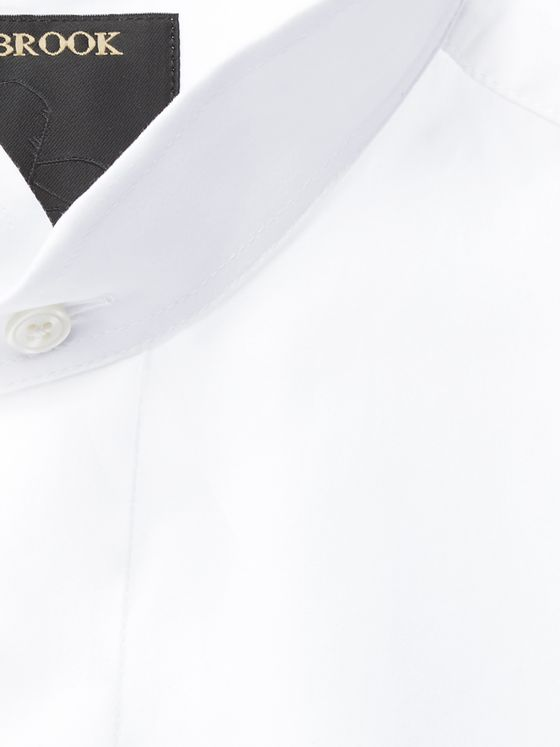 Favourbrook Nehru-Collar Cotton-Poplin Shirt
