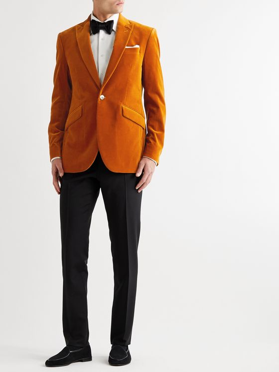 Favourbrook Newport Slim-Fit Cotton-Blend Velvet Tuxedo Jacket