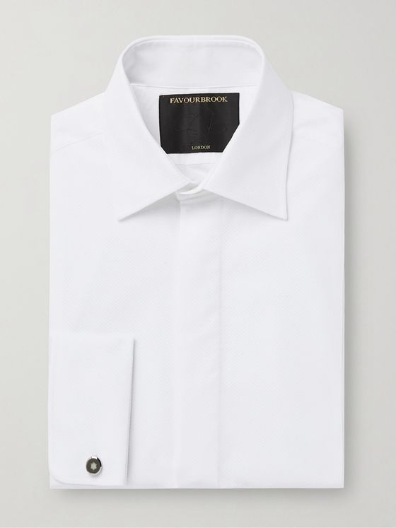 Favourbrook Bib-Front Marcella Cotton-Poplin Shirt