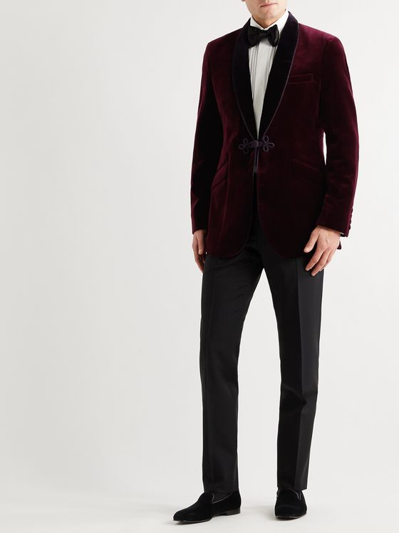 Favourbrook Shawl-Collar Velvet Tuxedo Jacket