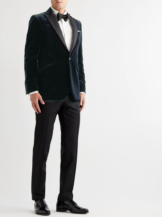 Favourbrook Fawn Slim-Fit Grosgrain-Trimmed Cotton-Velvet Tuxedo Jacket