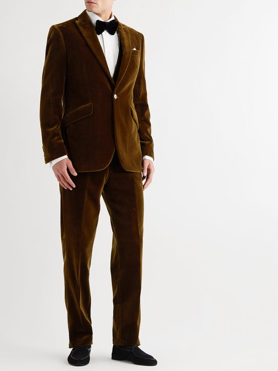 Favourbrook Newport Slim-Fit Cotton-Velvet Suit Jacket