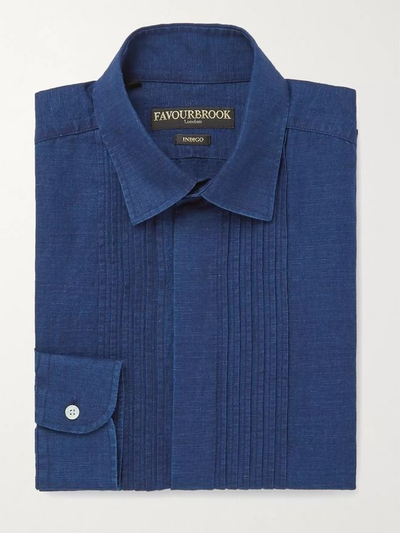 Favourbrook Bib-Front Cotton and Linen-Blend Shirt