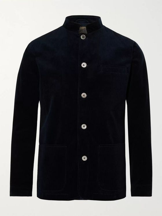 Favourbrook Sackville Artist Nehru-Collar Cotton and Cashmere-Blend Corduroy Jacket