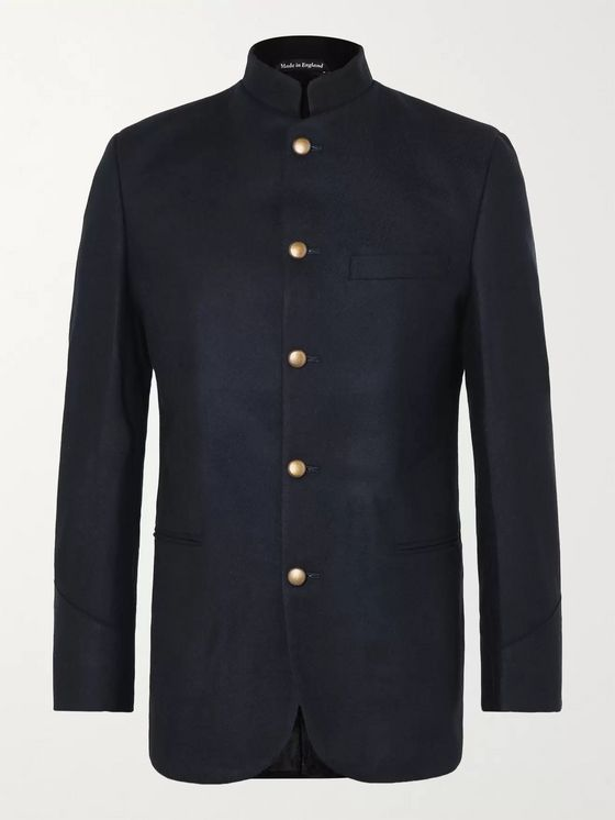 Favourbrook Seaton Grandad-Collar Cashmere Jacket