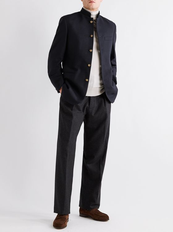 Favourbrook Seaton Nehru-Collar Cashmere Jacket