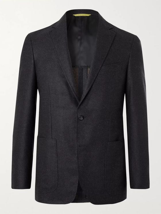 CANALI Kei Slim-Fit Unstructured Mélange Wool Blazer