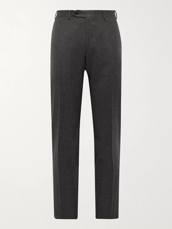 Canali Super 120s Wool-Flannel Trousers
