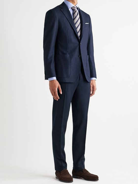 CANALI Kei Slim-Fit Unstructured Wool-Flannel Suit Jacket