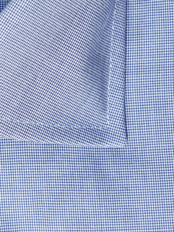 CANALI Cutaway-Collar Puppytooth Cotton Shirt