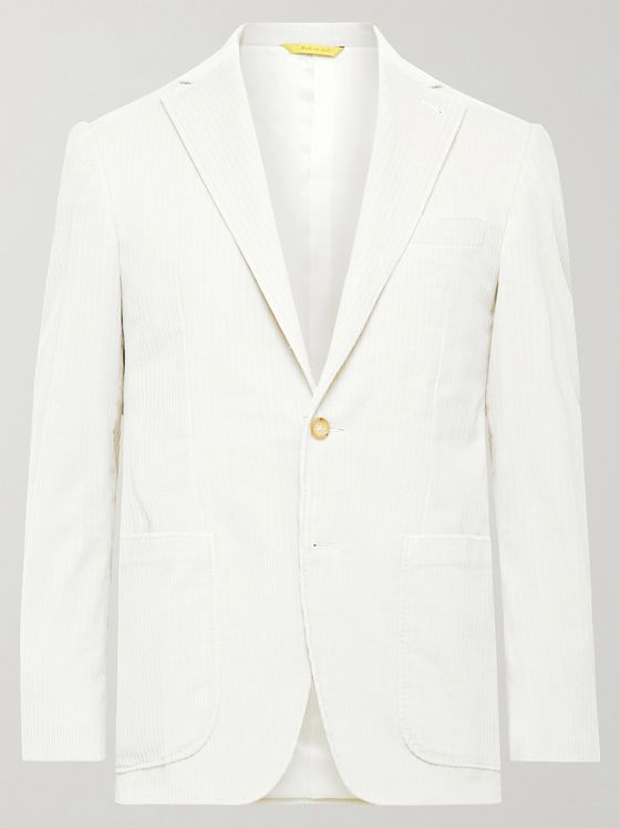 CANALI Kei Slim-Fit Unstructured Cotton-Blend Corduroy Blazer