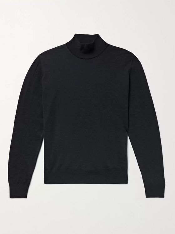 CANALI Merino Wool Mock-Neck Sweater