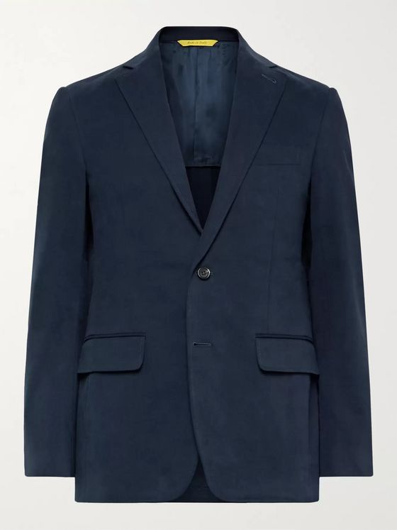 CANALI Kei Slim-Fit Unstructured Stretch-Cotton Twill Suit Jacket