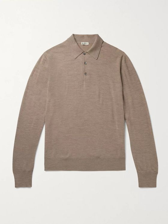 Connolly Mélange Merino Wool Polo Shirt