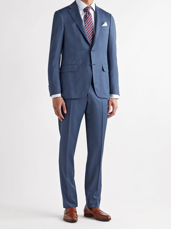 CANALI Kei Slim-Fit Unstructured Wool Suit Jacket