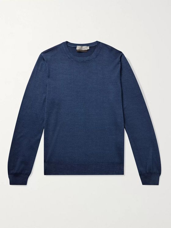 CANALI Wool and Silk-Blend Sweater
