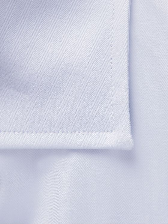 CANALI Slim-Fit Cutaway-Collar Cotton-Twill Shirt