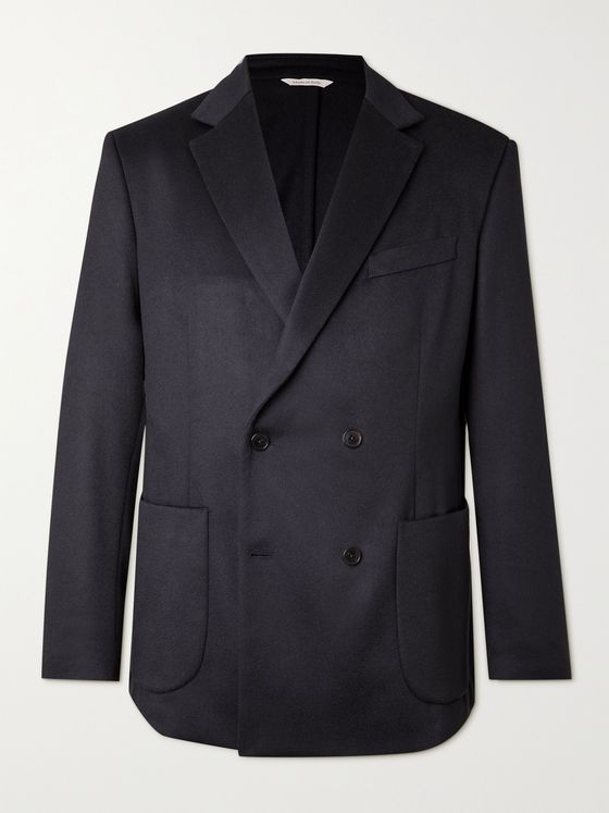 ALTEA Double-Breasted Cashmere Blazer