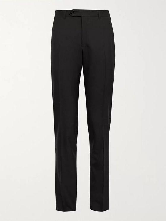 CANALI Slim-Fit Super 120s Wool Trousers