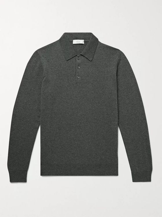 Altea Mélange Cashmere Polo Shirt