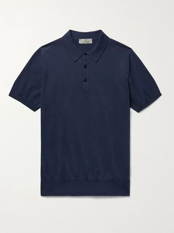 CANALI Cotton Polo Shirt