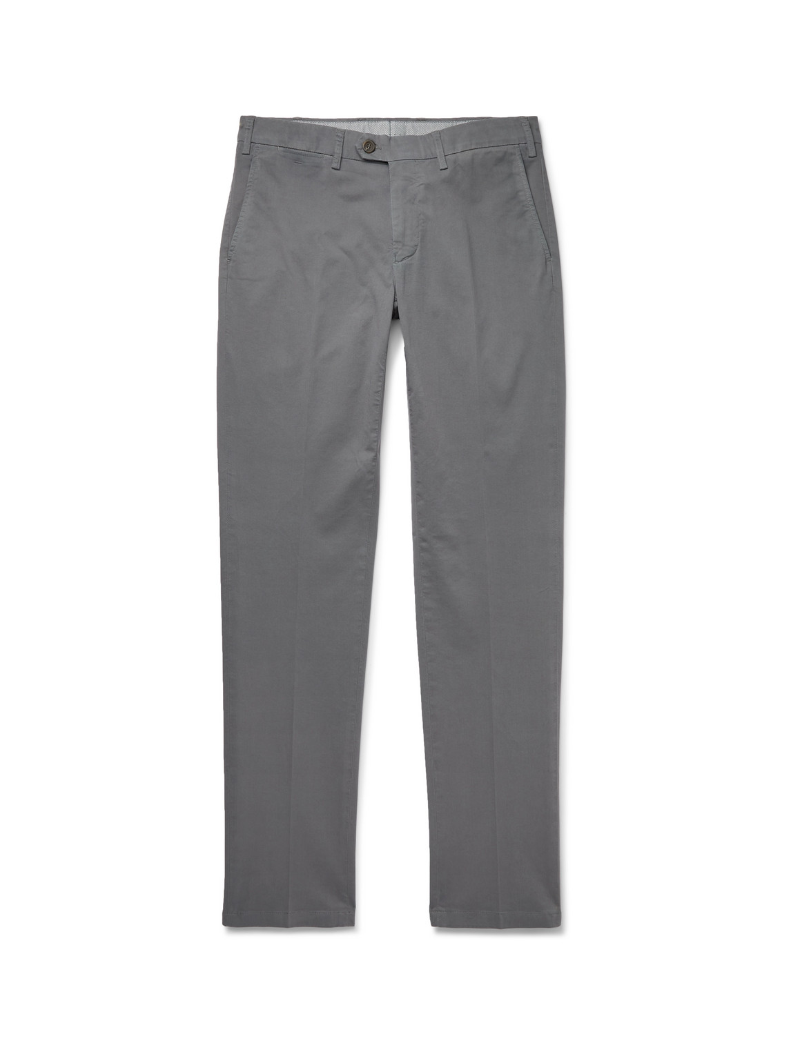 Canali - Slim-Fit Stretch-Cotton Twill Chinos - Men - Gray - It 50