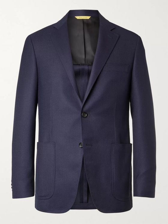 CANALI Kei Slim-Fit Unstructured Wool-Jacquard Blazer