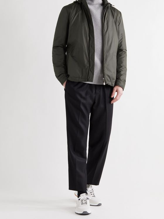 CANALI Shell Hooded Field Jacket