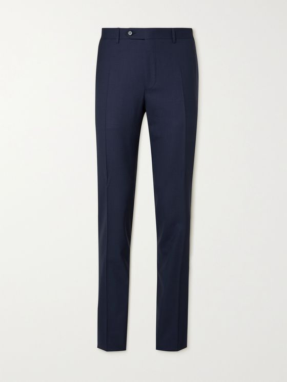 CANALI Slim-Fit Tapered Wool Suit Trousers
