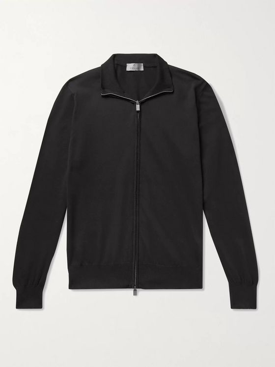 CANALI Cotton Zip-Up Sweater