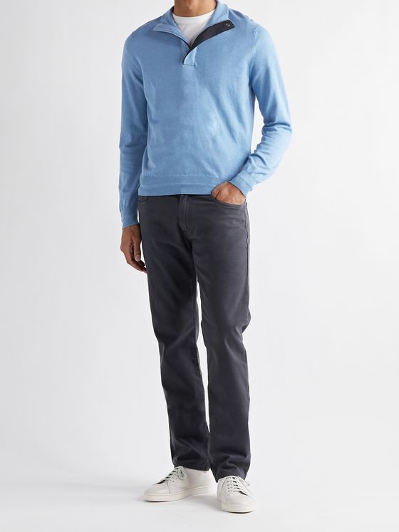 CANALI Slim-Fit Cotton Half-Zip Sweater