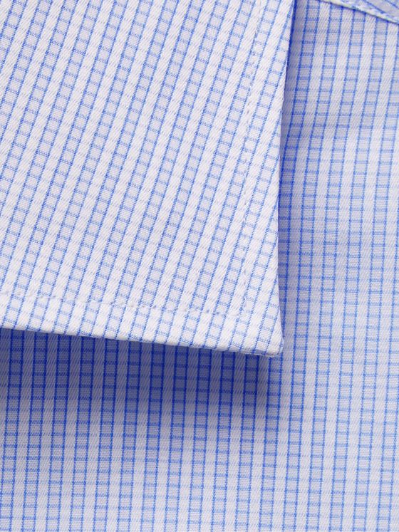 CANALI Cutaway-Collar Striped Cotton Shirt