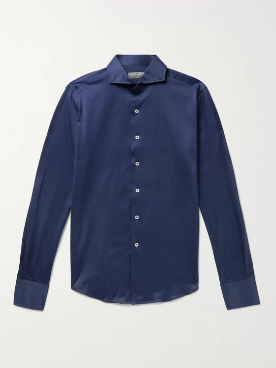 CANALI Slim-Fit Cotton Shirt