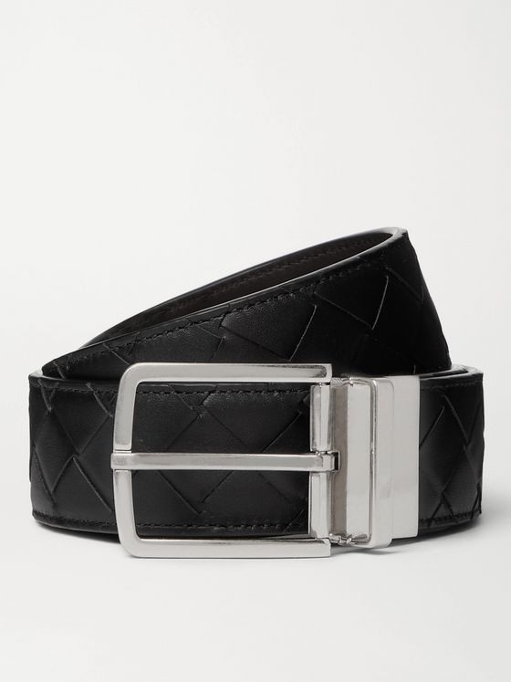 BOTTEGA VENETA 4cm Reversible Intrecciato Leather Belt