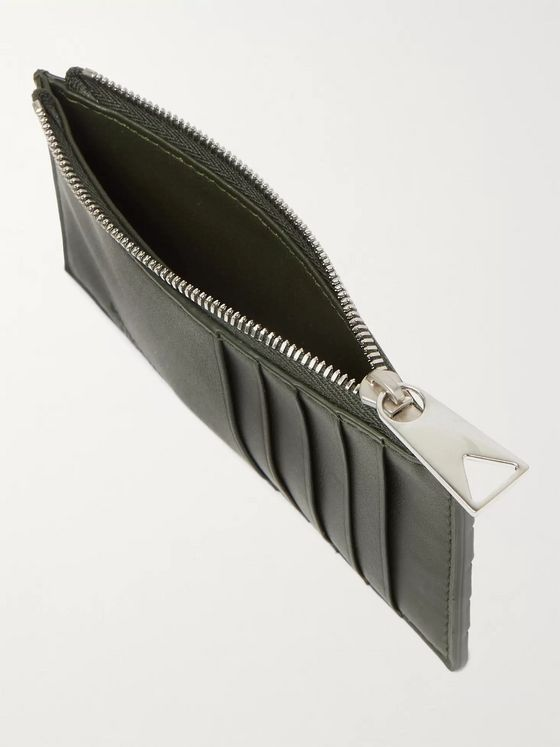 BOTTEGA VENETA Intrecciato Rubber and Full-Grain Leather Cardholder