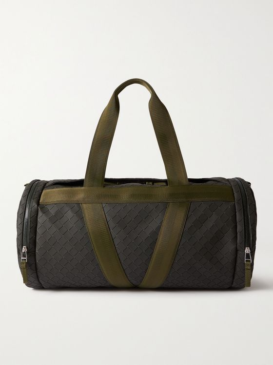 BOTTEGA VENETA Intrecciato Rubber-Trimmed Canvas Duffle Bag
